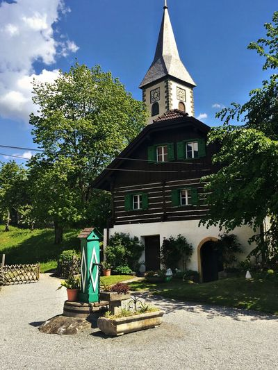 Ossiachersee Church Waterpump Austria Wooden House Check This Out