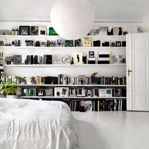 These shelves. @elementsathome Blackandwhite Shelving Design Scandinavian