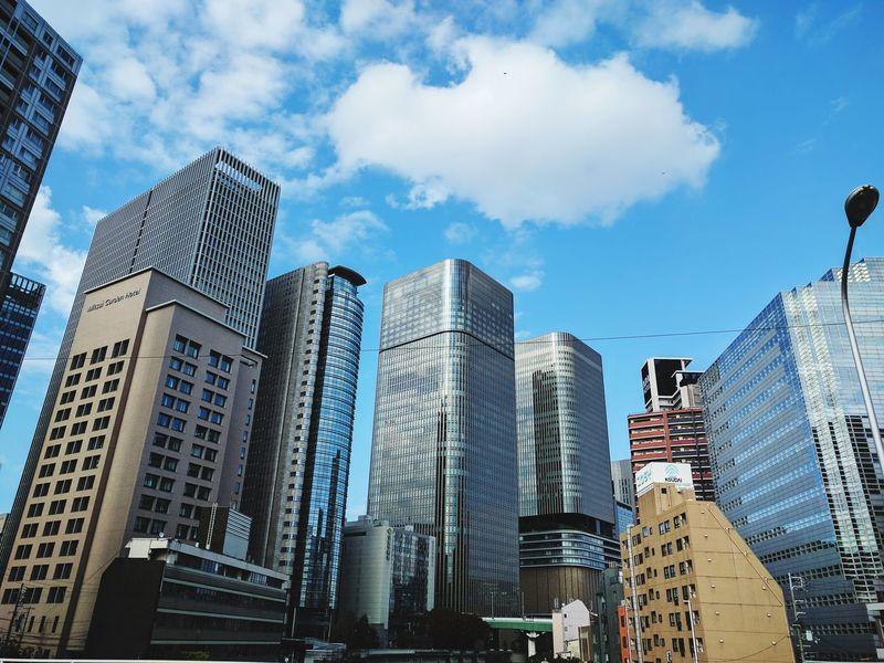 Architecture Cloud - Sky Sky City Outdoors No People Cityscape Osaka Japan City Office Building