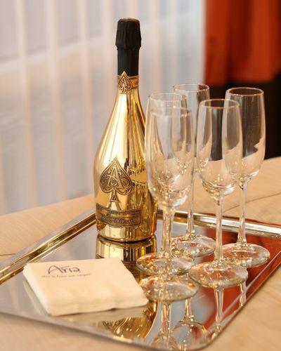 Close-up of wine glasses