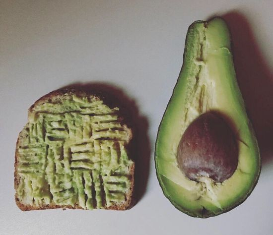 Food Food And Drink Healthy Eating Freshness No People Indoors  Close-up Avocado Cream Avocado Toast  Butter Healthy Lifestyle Breakfast Post Workout