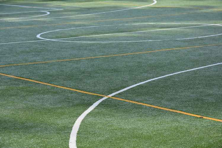 Full frame shot of empty playing field