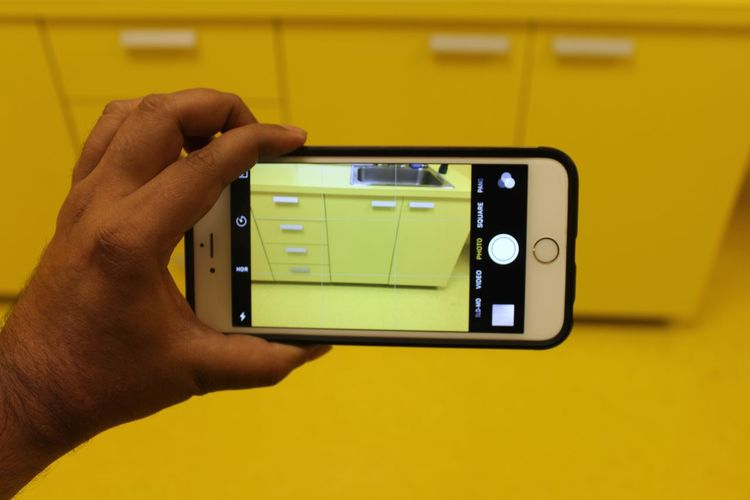 Close-up Cropped Journey Leisure Activity Lifestyles Modern Architecture Modern Interior Part Of Person Personal Perspective Smart Phone Unrecognizable Person Yellow