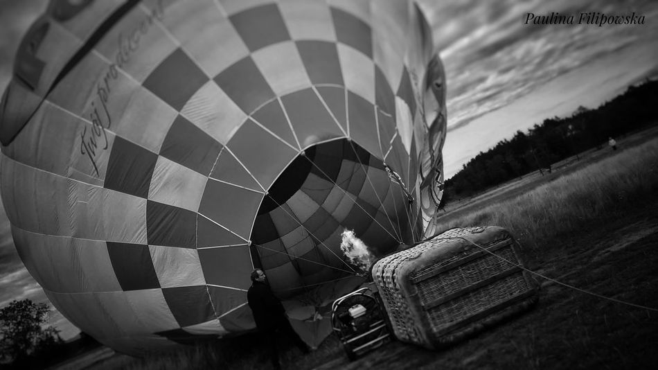Hot Air Balloon Sky Day Close-up Balloons In The Sky Balloon Art Balloon Fun High Rise High Up Up In The Air Up In The Sky Sky And Clouds Fire In The Sky Fire In Night Fire On The Highway Fire On Balloon Black And White With A Splash Of Colour