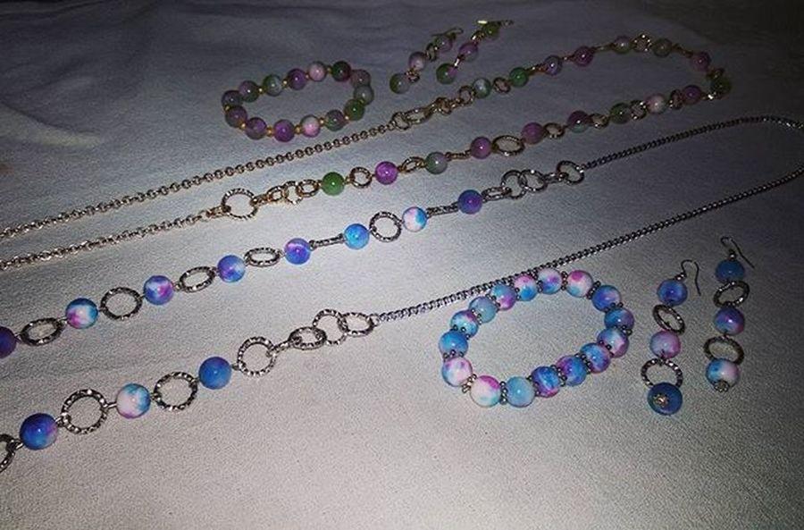 Sets jewelry Setjewelry Setbigiotteria Necklacehomemade Earringshomemade Bracelethomemade Orecchinifattiamano Collanafaidate Braccialefattoamano Bigiotteriaartigianale Bigiotteria Hobby