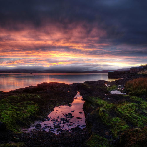 Kichattan Dawn, Isle of Bute, Scotland Calm Clyde Dawn Firth Of Clyde Island Isle Of Bute Kilchattan Landscape Moody Sky No People Outdoors Overcast Rocks Scenics Scotland Sky Tranquil Scene Tranquility Water Feel The Journey Mix Yourself A Good Time Lost In The Landscape