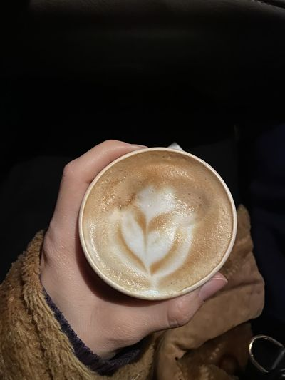 Coffee cup of cappuccino