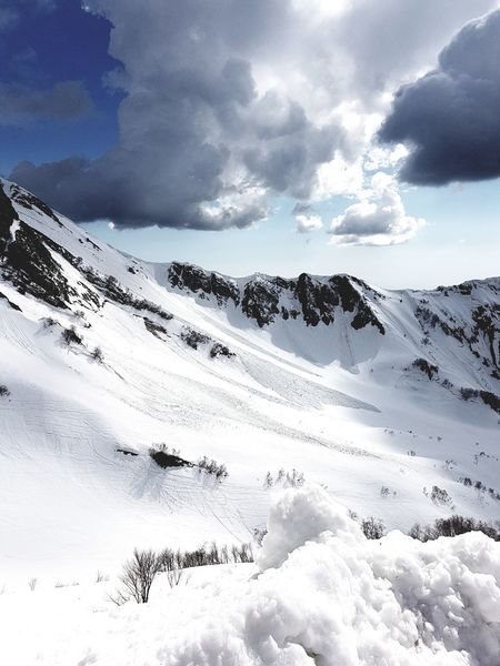 Shades Of Winter Cloud - Sky Snow Nature Sky Weather Scenics Mountain Beauty In Nature Tranquility Outdoors Landscape Winter Day Cold Temperature No People