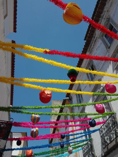 Blue Sky Popular Culture Popular Party Santo Antonio Santos Populares Popular Colorful Decorations Street Day No People Sunny Day Hanging Celebration Sky Architecture Traditional Festival