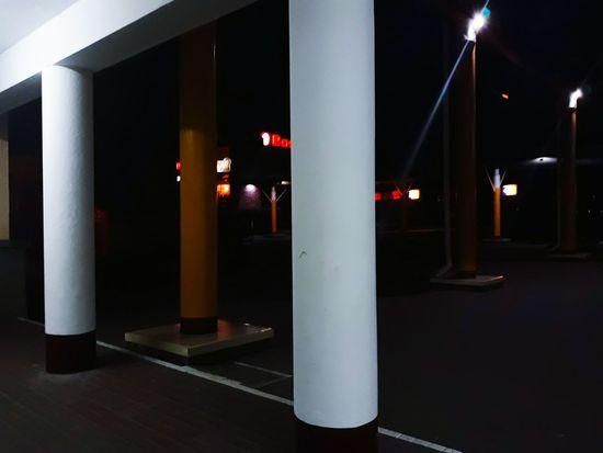 Illuminated City Architectural Column