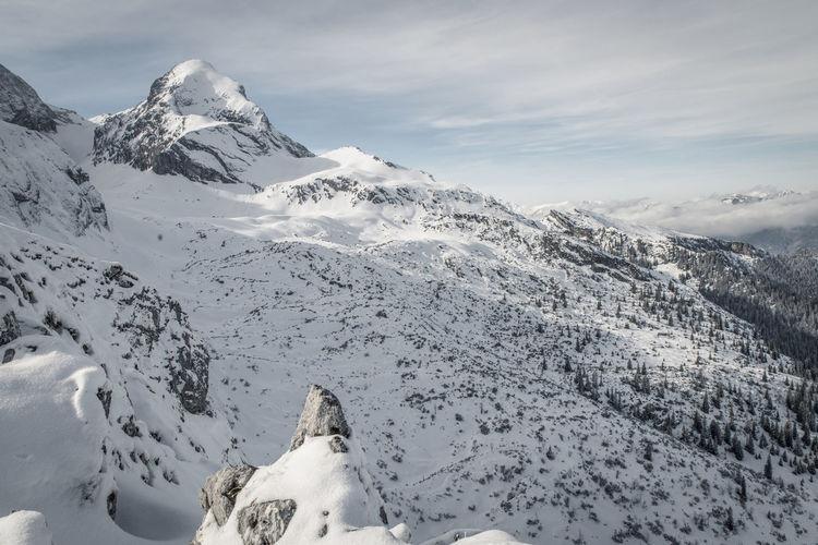 Alpspitz Alpspitzbahn Forest Garmisch Garmisch-partenkirchen Mountains Mountains And Sky Nature Non-urban Scene Peak Rocks Skiing Skitour Skitouring Snow Summit The Alps Winter