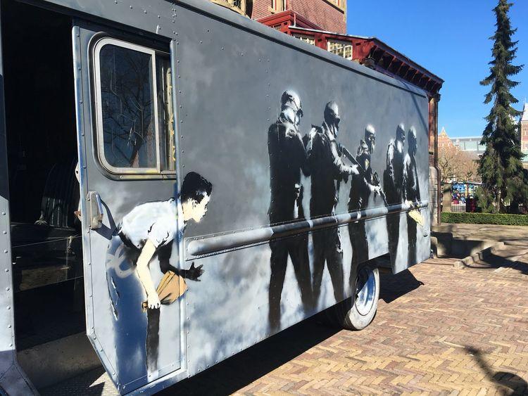 Art Banksy Banksyart Day Outdoors People Responsibility Streetart Winter