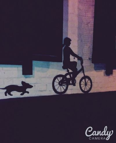Girl And Dog Picture Street Art
