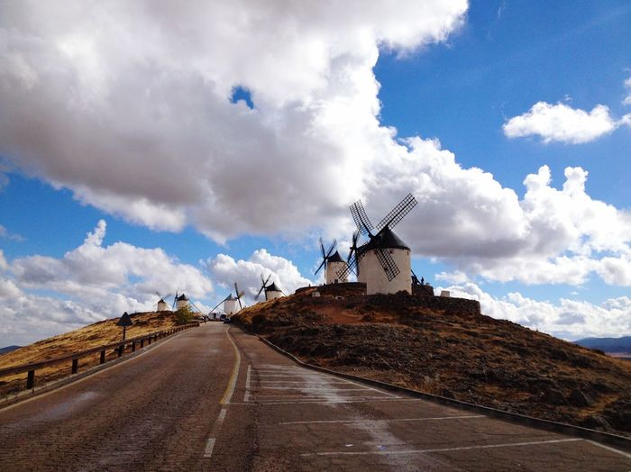 And then it started to rain... Windmills Vintage DonQuixote Don Quijote Consuegra SPAIN Clouds