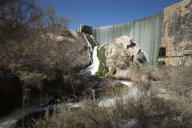Views of the Elche swamp in winter. Province of Alicante in Spain. Agriculture Elche Scenic Swamp Vinalopo Cascade Irrigation No People Plant Reservoir Rock Formation Sky Waterfall