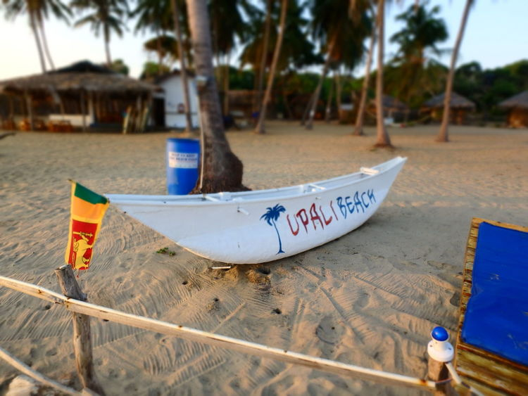 Arugam Bay Arugambay Beach Boat Ride Morning Sri Lanka Sri Lankan Flag Upali Beach