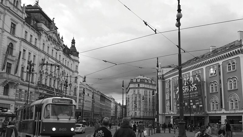 B&W Collection Black & White Edited Streetcar Street Photography Visiting Prague I Love Prague Prague Nostalgia Urban Lifestyle