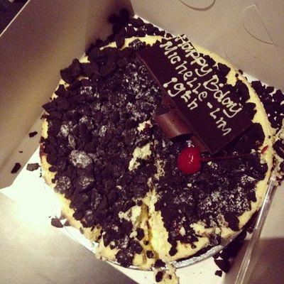 My birthday cake .... Cheese Cookies Dapurcoklat Delicious yummy instacake latepost