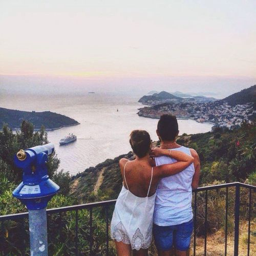 People And Places Traveling Couple Dubrovnik, Croatia Love Trip