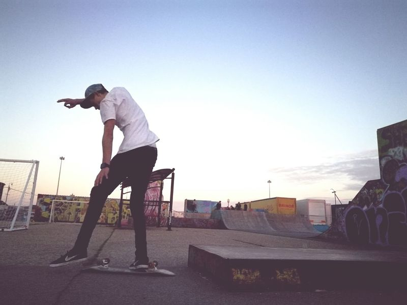 One Man Only Only Men Balance Sport Full Length Practicing Adults Only Skateboard Side View One Person Stunt Real People Leisure Activity Skill  Healthy Lifestyle Adult Skateboard Park One Young Man Only Individuality Men