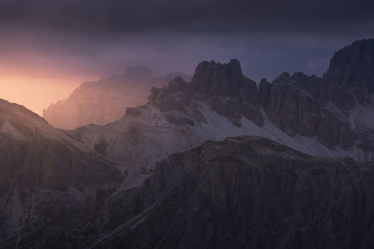 Incredible landscape with the beauty of dolomite mountains, italy.