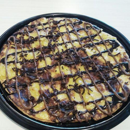 Choco Banana chip 🍕 GreenwichPizza Pizza Nutella Chocolate Chocolatechip Bananachips