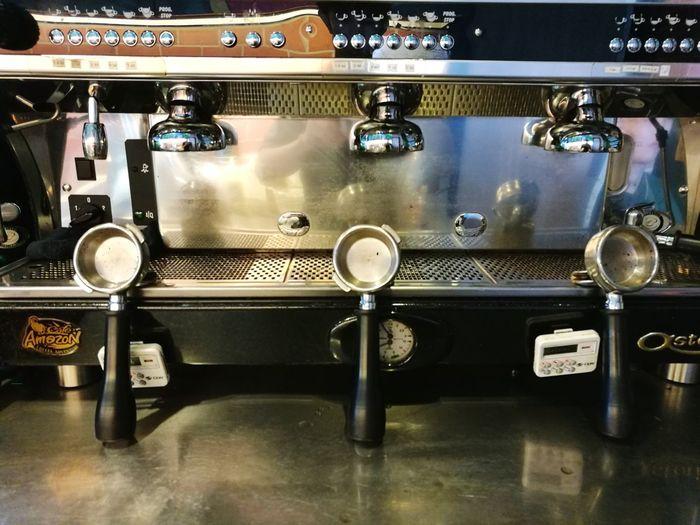 coffee shop Coffee Shop Coffee - Drink Coffee Cup Indoors  No People Gauge Espresso Maker Faucet Close-up