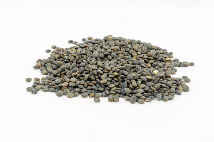 Puy Lentils against a White Background Pulses Abundance Close-up Dried Dried Food Food Food And Drink Freshness Healthy Eating Indoors  Ingredient Large Group Of Objects Legume Family Lentils No People Puy Lentils Raw Food Speckled Speckled Lentils Still Life Studio Shot White Background