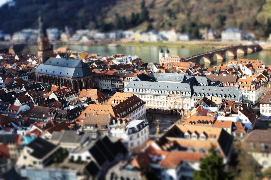 Relaxing Heidelberg Bridge Miniature