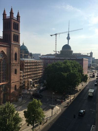 Berlin Berlin Mitte Church Architecture Building Exterior Built Structure City Cityscape No People Outdoors Sky Street Thattoweragain Tower Travel Destinations Tree