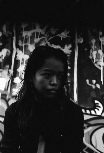 immanalia on film 35mm Film Bali Copy Space INDONESIA Ilford HP5 Plus Portrait Of A Woman Album Cover Asian Girl Cool Style Cute Day Fashion Model Film Photography Makeportraits Moody Mural One Person Street Art Streetphotography