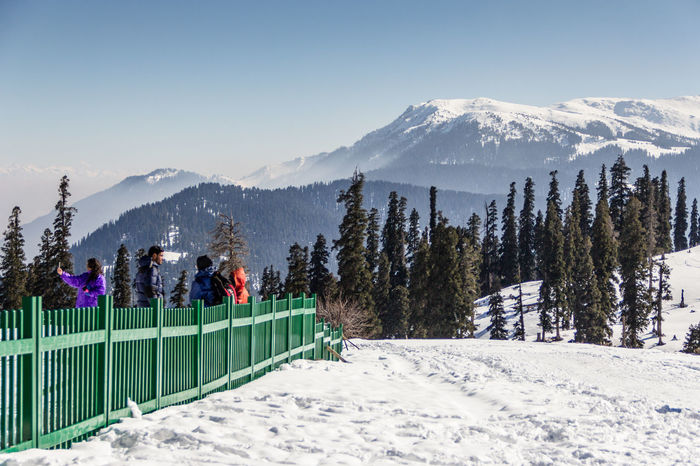 Adventure Beauty In Nature Cold Cold Temperature Coniferous Trees Covering Day Fence Frozen Kashmir Landscape Mountain Mountain Range Natural Beauty Season  Snow Snow Covered Snowcapped Tranquil Tranquille Weather White Winter