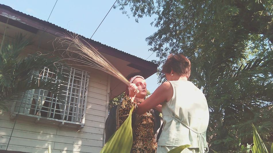 Family's Tradition Tradition Holyweek @ CamaligAlbay Philippines Salome Preparation  for the Procession