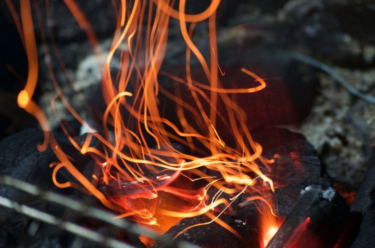 Brazier Heat - Temperature Burning Flame Sparks Nikon D5100  Light Painting Light Effect Long Exposure Purist No Edit No Filter