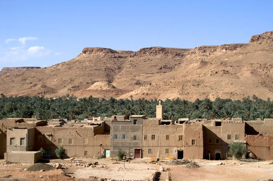 Ziz valley, Errachidia in Morocco. Morocco MoroccoTrip North Africa Africa Architecture Arid Climate Building Building Exterior Built Structure Climate Day Environment Errachidia Land No People Travel Destinations Valley Ziz Ziz Valley