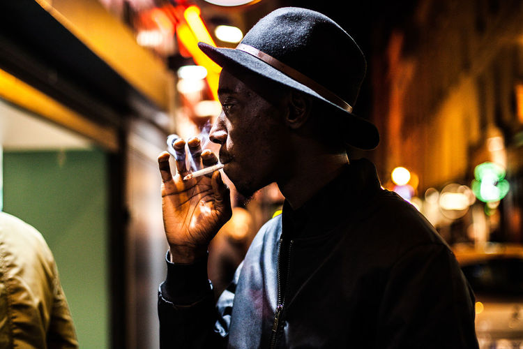 People And Places Selective Focus Men Paris Cigarette  Cool