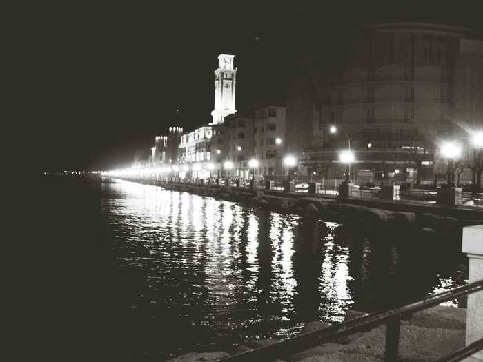 Bari - il lungomare Lights Effects Water_collection Urbanstyle Blackandwhite