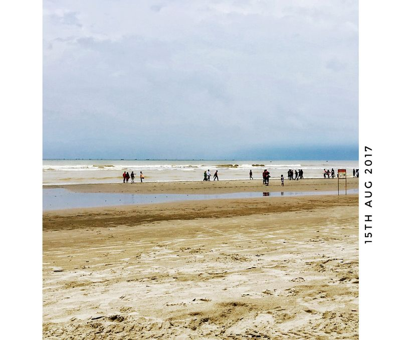 Beach Sea Sand Horizon Over Water Outdoors Vacations Sky Day Water Nature Summer Tranquility Cloud - Sky Beauty In Nature Wave People Low Tide Chittagong Bangladesh Sea Life Adventure Vacations Travel Landscape Fashion