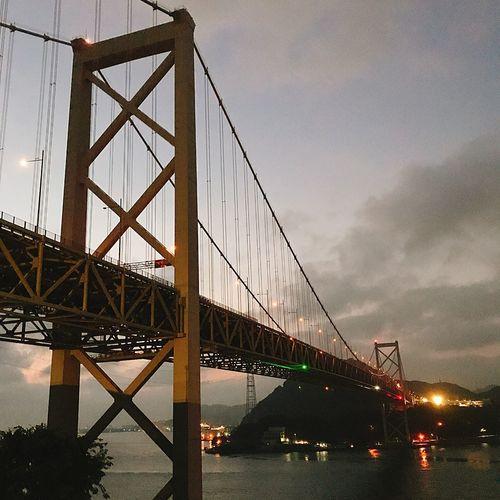 夜明け前 関門海峡 Bridge Sky Architecture Bridge - Man Made Structure Transportation Built Structure Connection