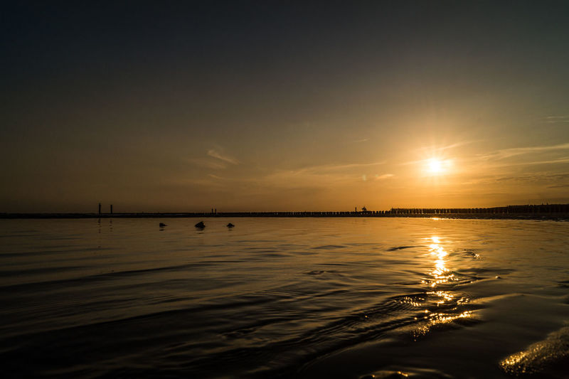 Westkapelle -Netherlands Beauty In Nature Deep Sunset Horizon Over Water Nature No People Outdoors Reflection Scenics Sea Silhouette Sky Sun Sunset Tranquil Scene Tranquility Travel Destinations Water Waterfront