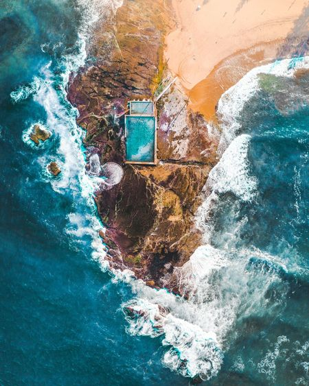 The local pool DJI Mavic Pro Djimavicpro Flying EyeEm Best Shots Reflection Water Ocean Rock Pool Swimming Pool Nature Lost In The Landscape Done That. Been There. Nature Mindfullness Water Drop Splash Drone  Mavic
