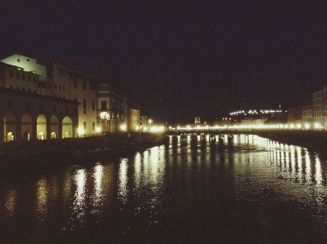 -Italy Florence Italia Italy Florence Italy Florence River River View Water Water Reflections Building Buildings Lights Light And Shadow Evening