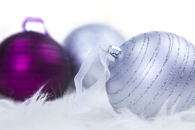 A few baubles nicely arranged. Boubles Celebration Christmas Close-up No People White Background White Color Xmas Decorations