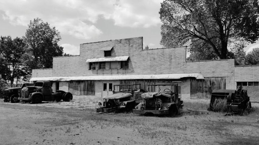 Taking Photos Blackandwhite Black And White Black & White Old Old Building  Old Tractor Tractor Left Behind Derelict Abandoned & Derelict Neglected Forgotten Abandoned Abused