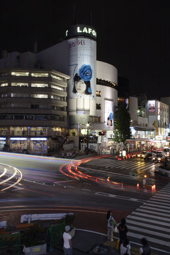 Harajuk night, Tokyo, Japan Cars Harajuku Architecture Building Exterior Built Structure Car City City Life City Street Cityscape Illuminated Land Vehicle Light Trail Long Exposure Motion Night No People Outdoors Road Sky Speed Street Traffic Transportation