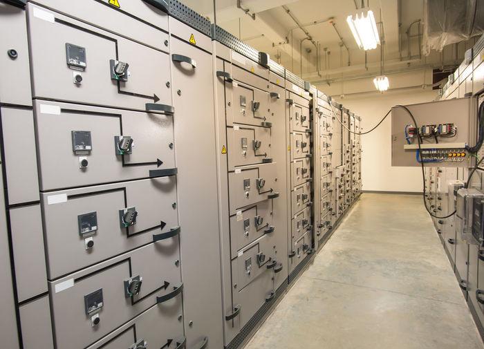 Lockers in control room