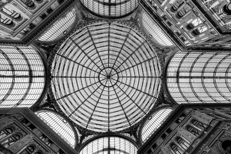 The glass roofed glory of galleria umberto, naples.