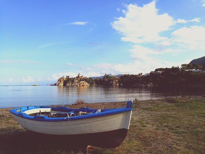 Blue Reflection Travel Destinations Cefalú, Sicilia, Mare, Paesaggio Sicily, Italy Sea Beach Water Sky Orizonte Nature HuaweiP9
