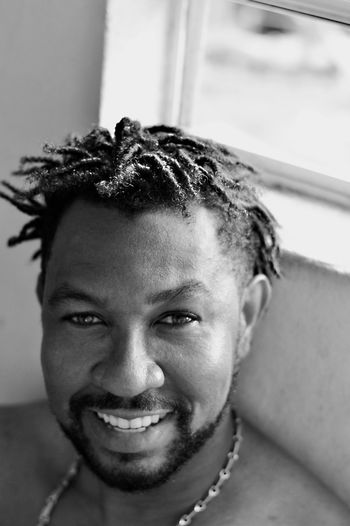 Afro Centric Black And White Close-up Curls Day Focus On Foreground Hairstyle Happiness Headshot Home Human Face Lifestyles Locks Portrait Selective Focus Smile Smile :)