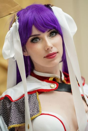 Katsucon 2019 Cosplay Cosplayer Cosplaygirl Katsucon Katsucon 2019 Portrait Looking At Camera One Person Real People Young Adult Headshot Front View Women Young Women Beautiful Woman Hairstyle Dyed Hair Purple
